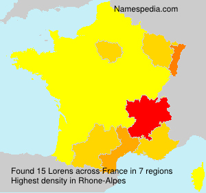 Surname Lorens in France