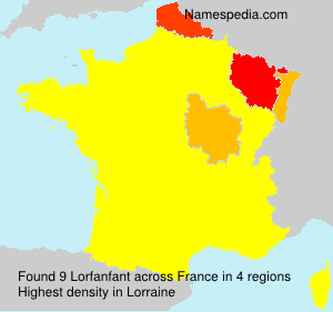 Surname Lorfanfant in France