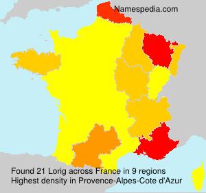 Surname Lorig in France