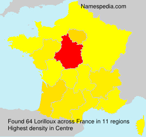Surname Lorilloux in France
