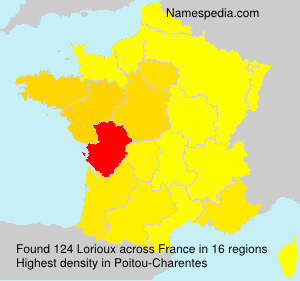 Surname Lorioux in France