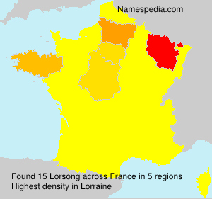 Surname Lorsong in France