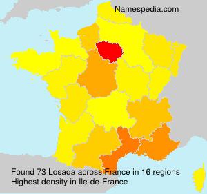 Surname Losada in France
