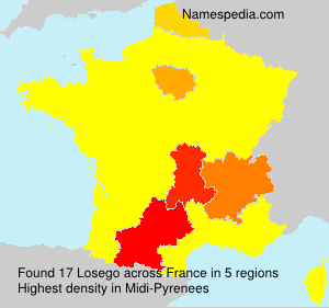 Surname Losego in France