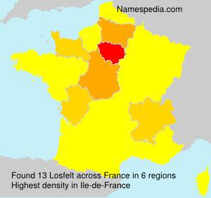 Surname Losfelt in France