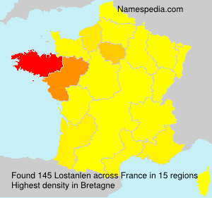 Familiennamen Lostanlen - France