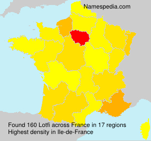 Surname Lotfi in France