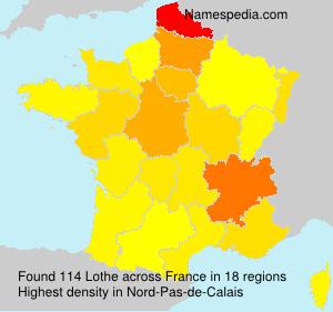Surname Lothe in France