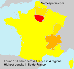 Surname Lother in France