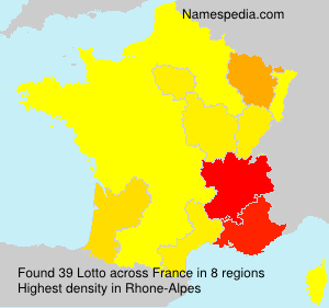 Surname Lotto in France