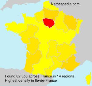 Familiennamen Lou - France