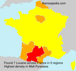Surname Louane in France