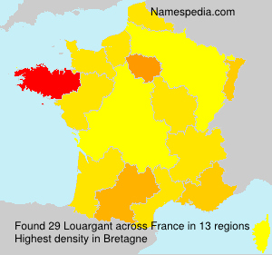 Surname Louargant in France