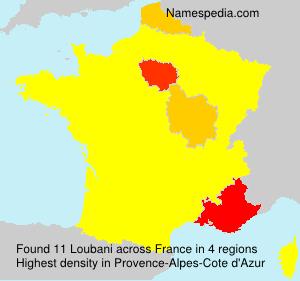 Surname Loubani in France