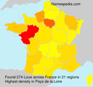 Surname Loue in France