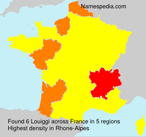 Surname Louiggi in France