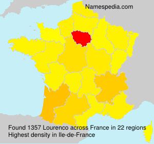 Familiennamen Lourenco - France