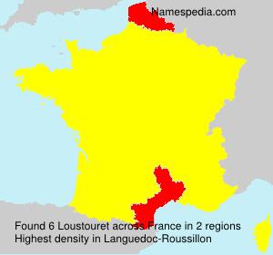 Surname Loustouret in France