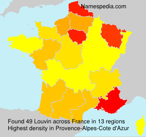 Surname Louvin in France
