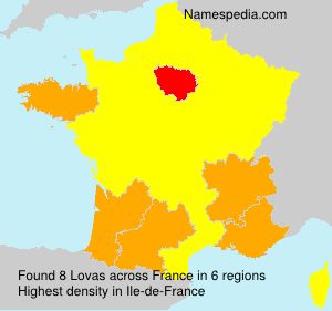 Surname Lovas in France