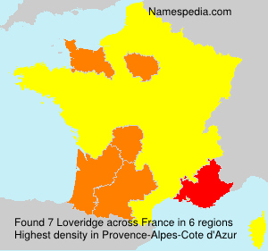 Surname Loveridge in France