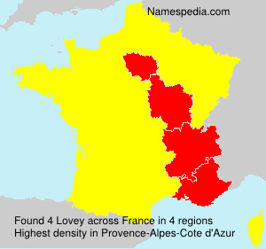 Surname Lovey in France