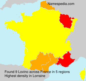 Surname Lovino in France