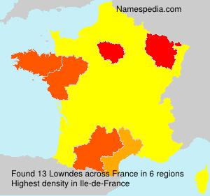 Surname Lowndes in France
