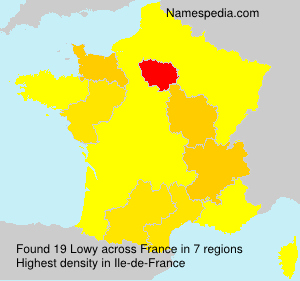 Surname Lowy in France