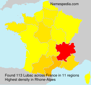 Surname Lubac in France