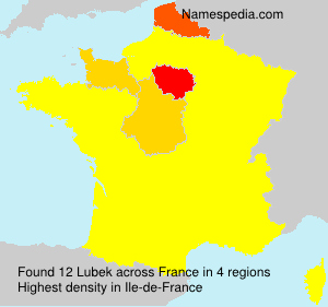 Surname Lubek in France