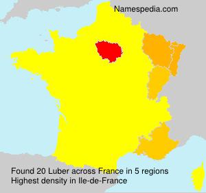 Familiennamen Luber - France
