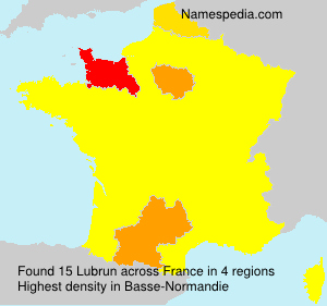 Surname Lubrun in France
