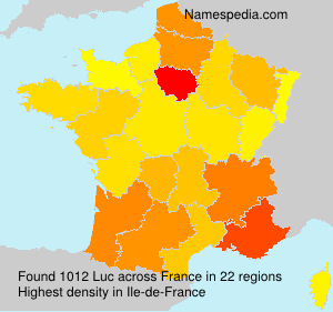 Surname Luc in France