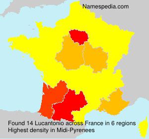 Familiennamen Lucantonio - France