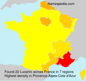 Surname Lucarini in France