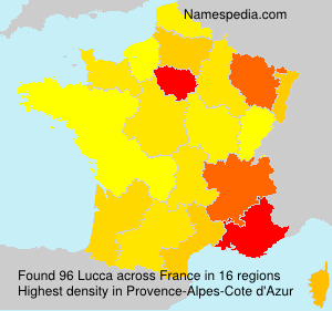 Surname Lucca in France