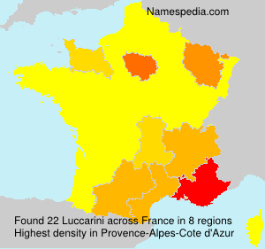 Surname Luccarini in France
