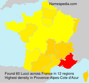 Surname Lucci in France