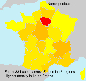Surname Lucette in France