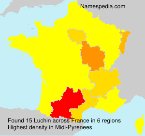 Surname Luchin in France
