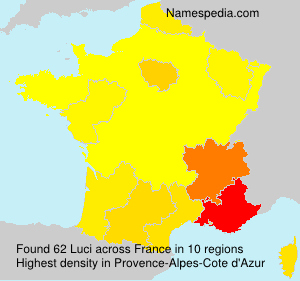 Surname Luci in France
