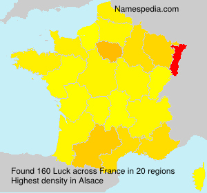 Surname Luck in France