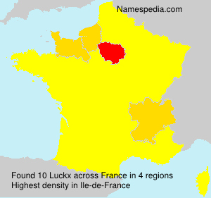 Surname Luckx in France