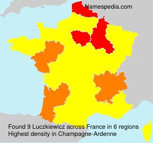 Surname Luczkiewicz in France