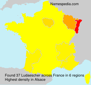 Surname Ludaescher in France