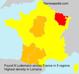 Surname Ludemann in France