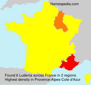 Surname Ludenia in France