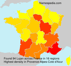 Surname Lujan in France