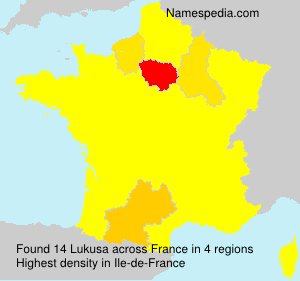 Surname Lukusa in France